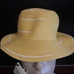 Flippo catarzi sun brim yellow hat nwt